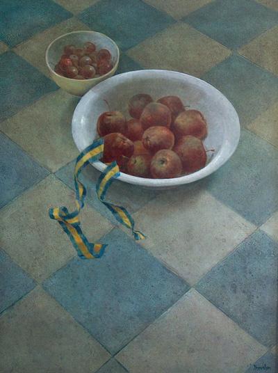 Appels, acryl, 40x53