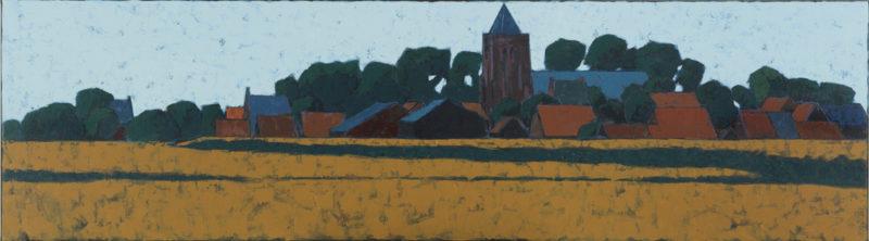 Baarland-in-de-zomer-Acryl-op-doek50x180-cm
