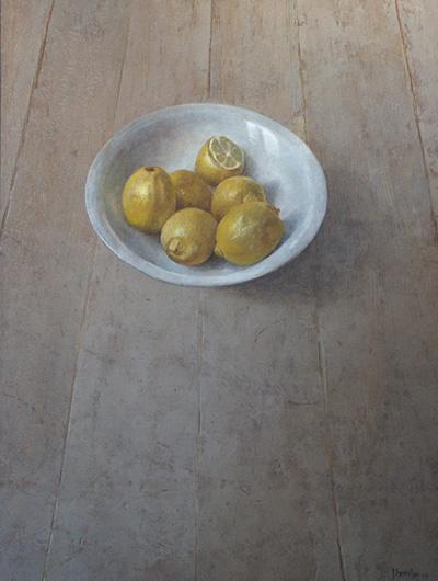 Citroenen, acryl, 40x53