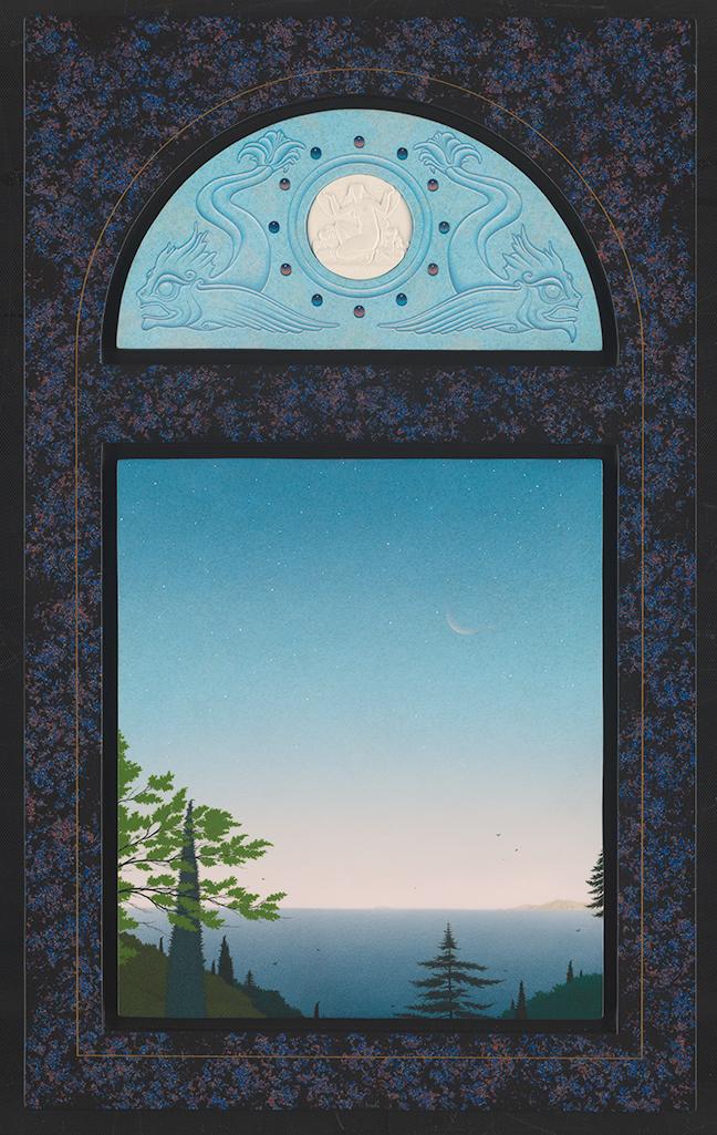 Dawn, acryl op paneel, 70x43