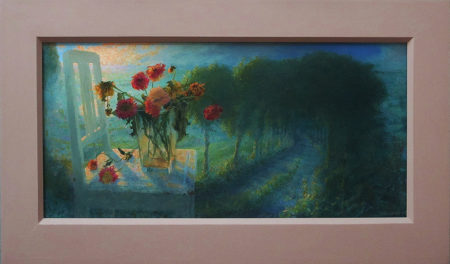 Gebroken Licht 30x62, acryl olieverf op paneel, 2011