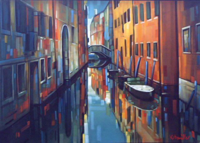 Venezia II, 50x70, acryl en olieverf op doek