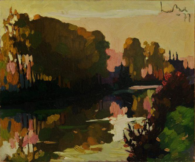 Volop Herfst aan ´t Kanaal bij Breugel 50x70 1977