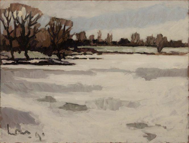 Winterlandschap 53x70 1991